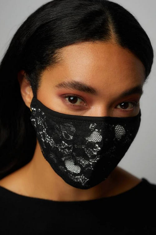 Lace Face Mask with Adjustable Ear Strap - honey