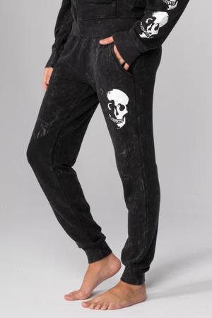 Skull Shadow Flat Pocket Sweatpants - honey