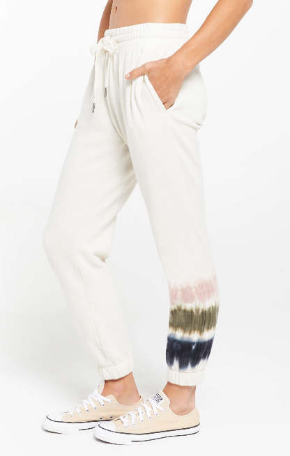 Selene Stripe Tie Dye Jogger - honey