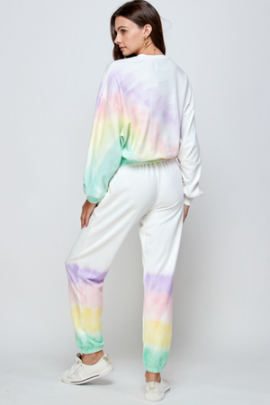 Ombre Rainbow Tie Dye Sweatshirt - honey