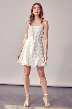 Isabella Floral Organza Mini Dress - honey