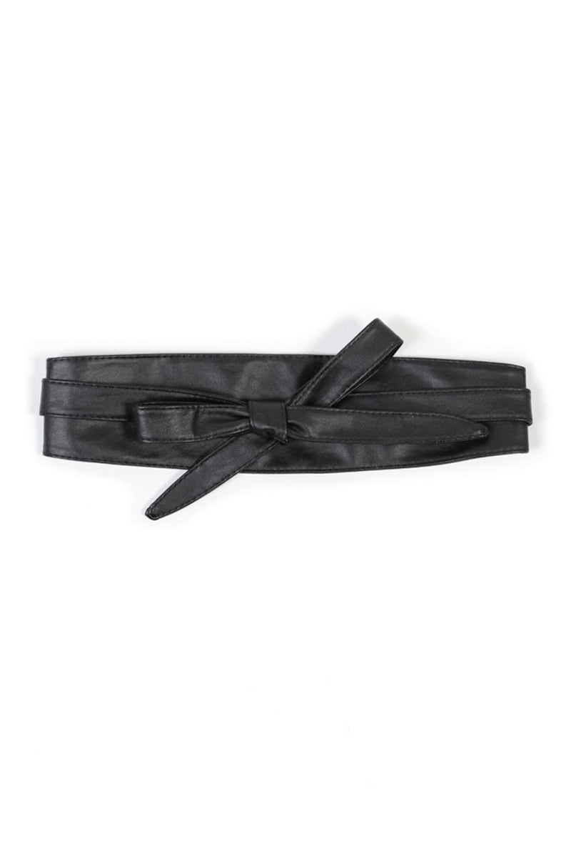 Vegan Leather Wrap Belt