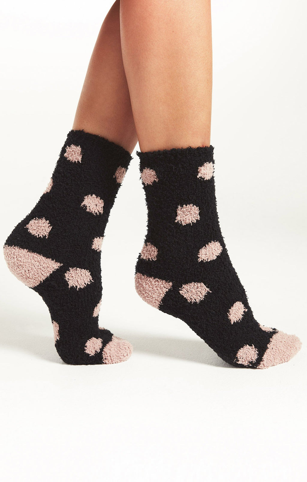 Dot Plush Socks - honey