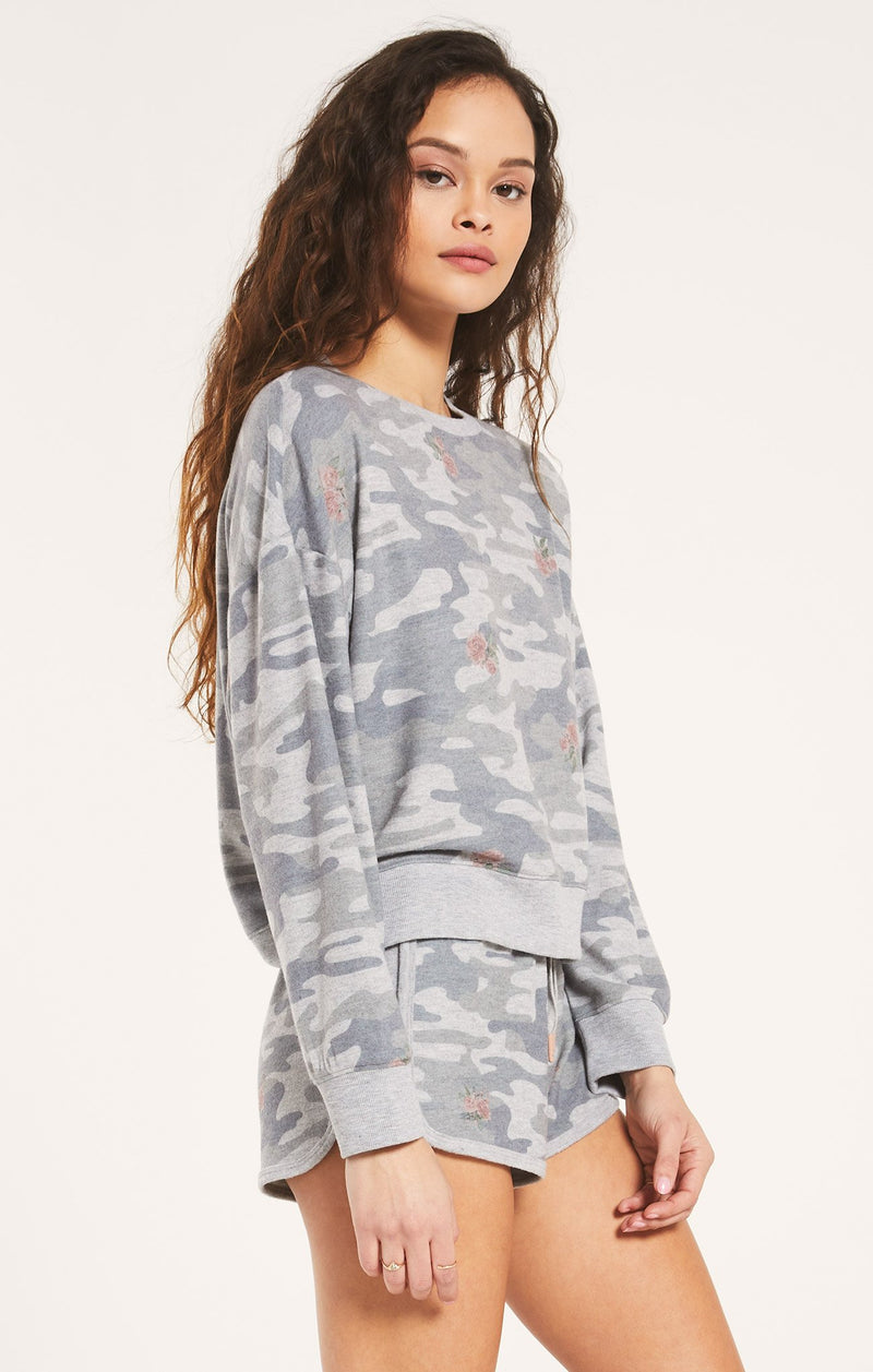 Elle Rose Camo Long Sleeve