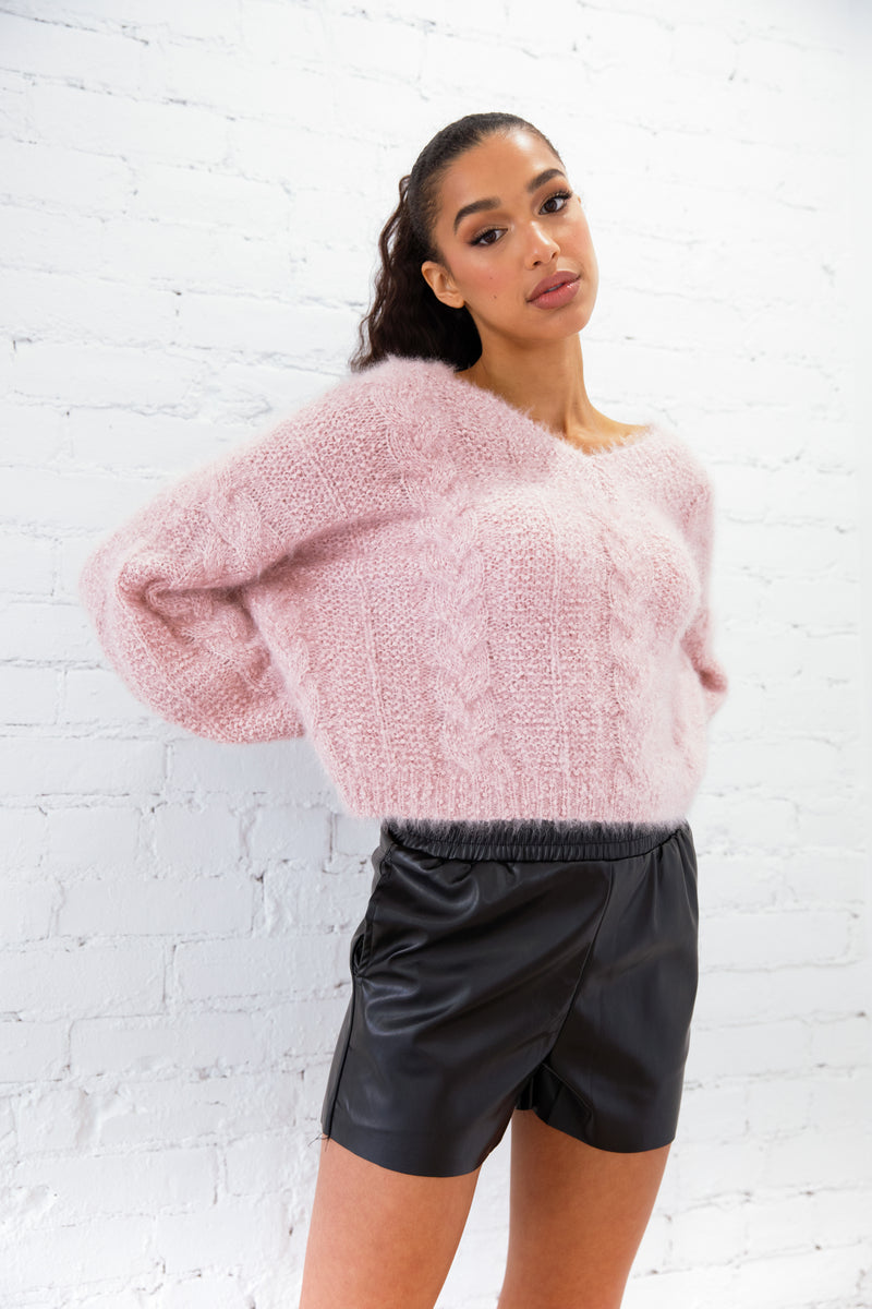 Teddy Oversize Fuzzy Knit Sweater