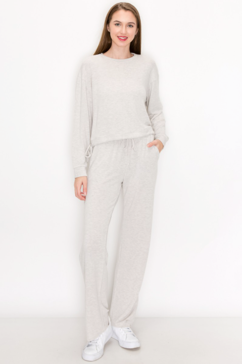 Lena Tie Waist Straight Leg Jogger - honey