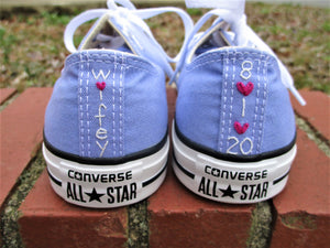 Custom Stitching On Converse or Other Fabric Surface Shoes-  Customer Provides Shoes