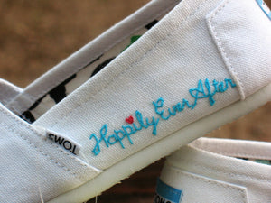 TOMS shoes, Embroidered Custom - Shoes Included