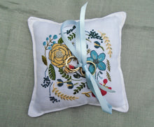 Load image into Gallery viewer, Ring Bearer Pillow, Boho Floral