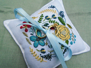 Ring Bearer Pillow, Boho Floral