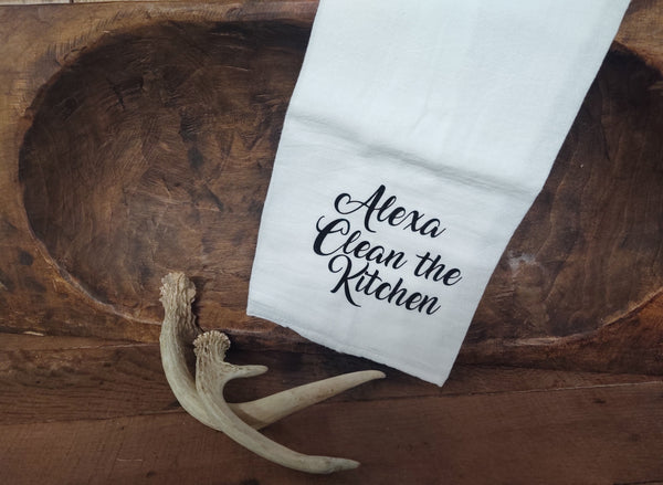 Alexa Clean the Kitchen-Tea Towel