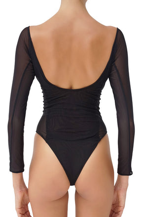 Indira One Piece Reversible Pitch Dark & Pinto Back