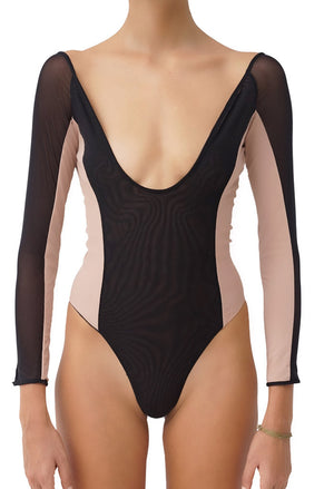 Indira One Piece Reversible Pitch Dark & Pinto Front
