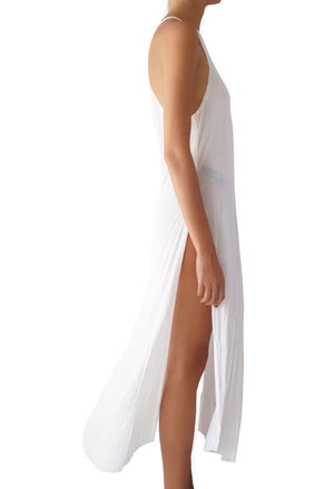 Paradise Dress Side | Bianco | White Dress