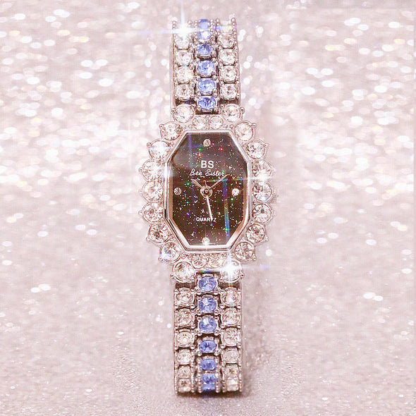 customized full diamond watch one piece