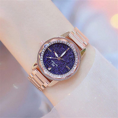 Personality Star Diamond mirror student quartz watch