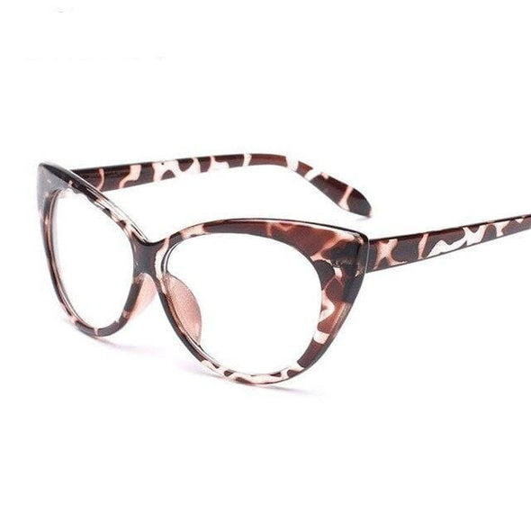 New Sexy Transparent Cat Eye Optical Glasses HOT