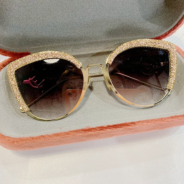 Designer Diamond Cat Eye Sunglasses