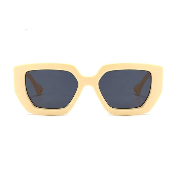 Vintage Square Sunglasses Famous Luxury Big Frame Gradient shade uv400