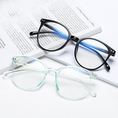 2021 Trends Office Anti Blue Light Oversized Round Glasses Computer Women Blue Blocking Gaming Big Size Men Eyeglasses Frame