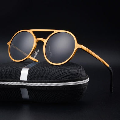 retro round box fashion sunglasses