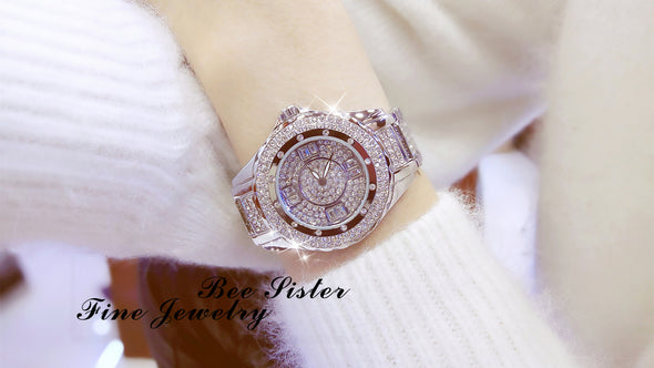 hot selling watch manufacturer full diamond watch