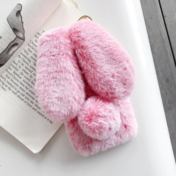 3D Cute Rabbit Hairy Warm Fur case for iPhone