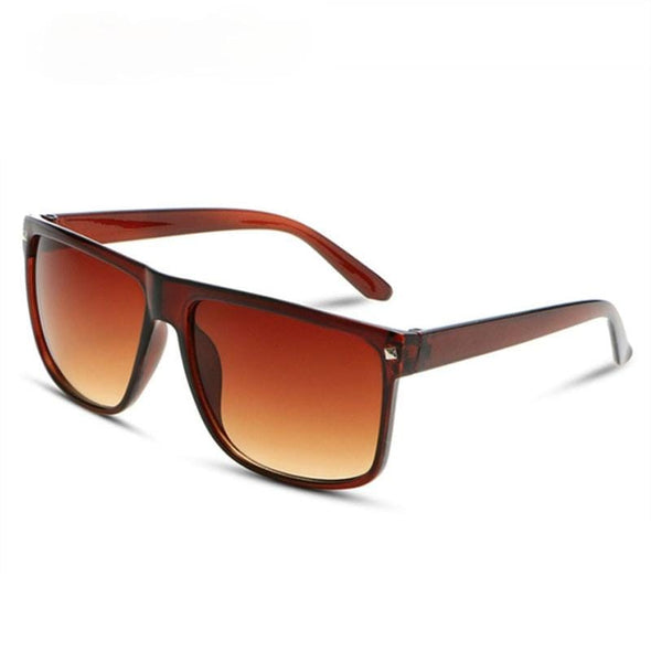 Oversized Sunglasses Big Frame Women Men Classic Rivet Brown Black Eyewear