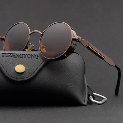 Men Polarized Classic Gothic Steampunk Sunglasses