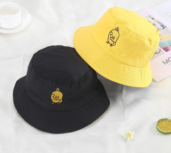 Bucket Hat Womens Summer Hat Reversible Caps Panama Fold Sun Beach Fisherman Hat Hip Hop Harajuku Yellow Hat Hat Korea Unisex