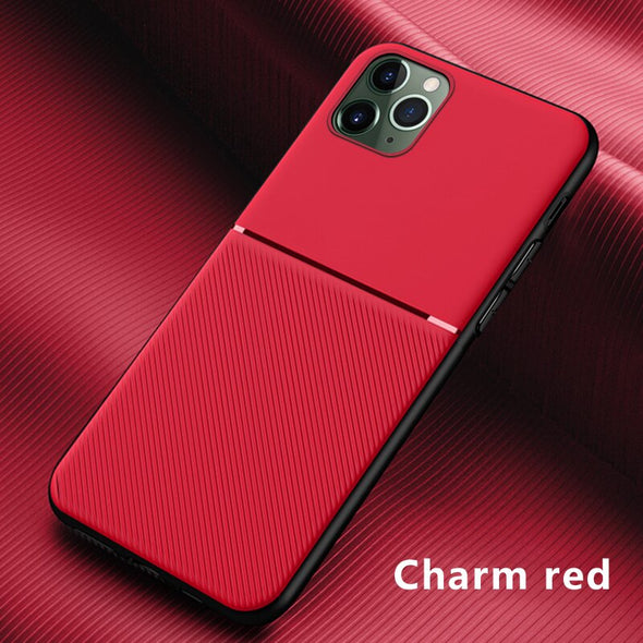 Luxury Silicone Car Magnetic Holder Phone Case