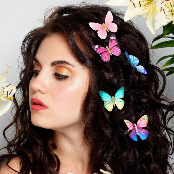 Mixed Color Butterfly Mini Hairpins Hair Claws