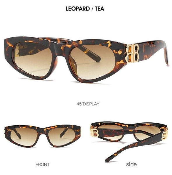 Small Texture Frame Cat Eye sunglasses