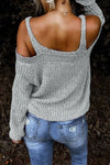 Sling Strapless Knitted Sweater