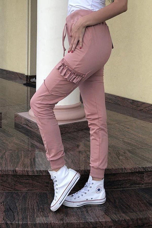 Lace Baggy Casual Wear Pants