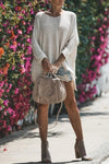 Stylish Baggy Solid Color Sweater