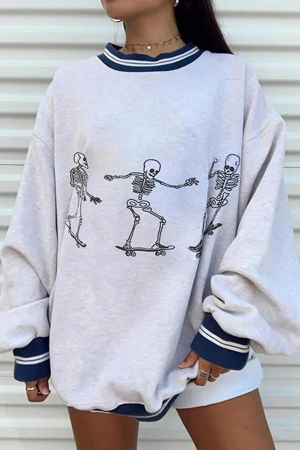 Cool Graphic Print Casual Wear Sweatshirt