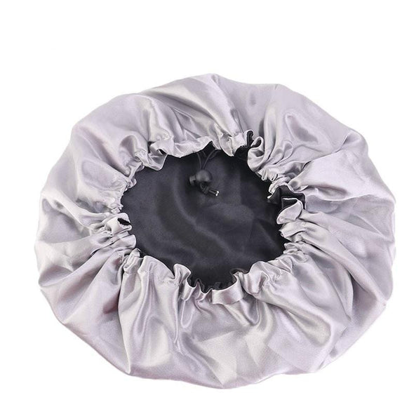 Satin Bonnet Fashion Stain Silky Big Bonnet for Lady Sleep Cap Headwrap Hat Hair Wrap Accessories