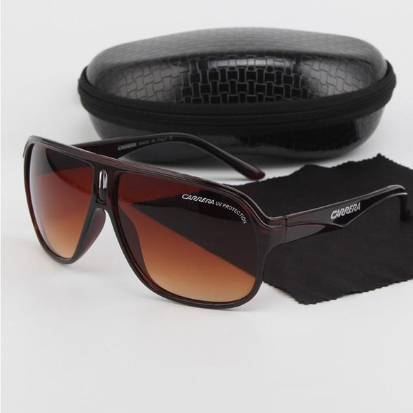 RetroPolarized Sunglasses brown sunglasses Spuare Mirror Summer