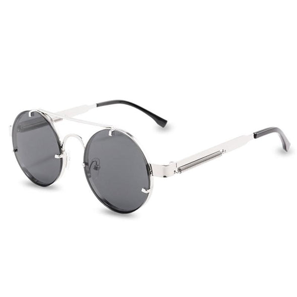 Round Steampunk Sunglasses Men Women Metal Vintage Sunglass UV400