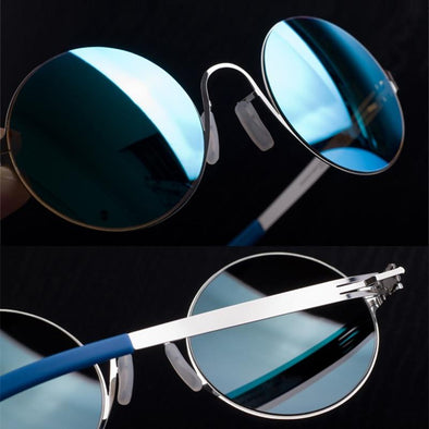 Vintage Round Sunglasses Women Outdoor Sun Glasses with Colored Lens Men UV400