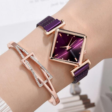 Square Gradient Color Watches