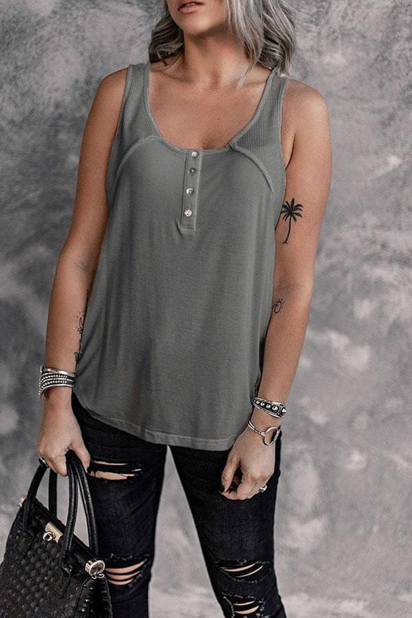 Solid Color Buttons Camisoles