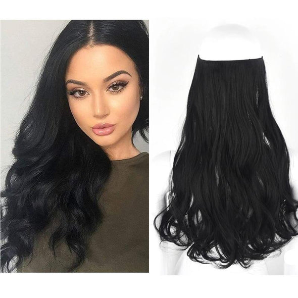 Wave Halo Clip in Hair Extensions Wigs