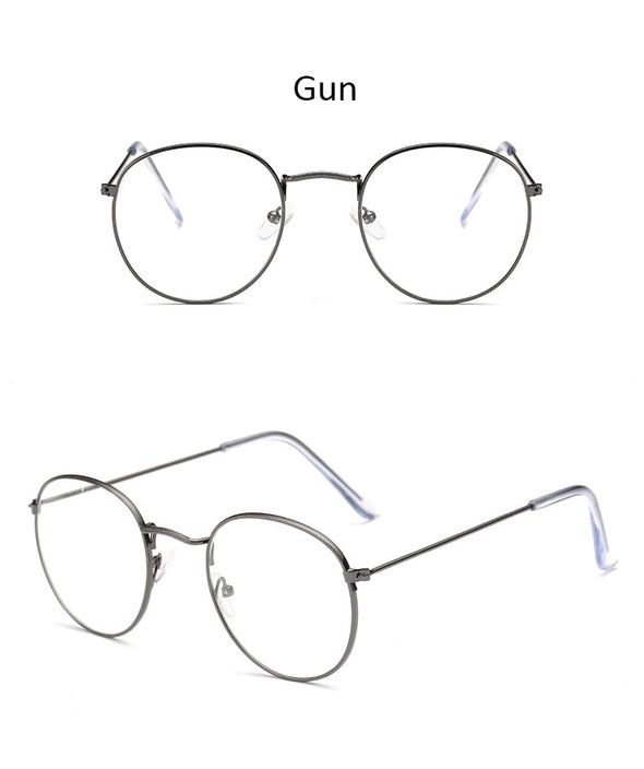 Fashion glasses frame Classic Round Women's Metal frame