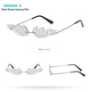 Vintage Rimless Flame Sunglasses