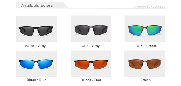Driving Series Polarized Aluminum Sunglasses