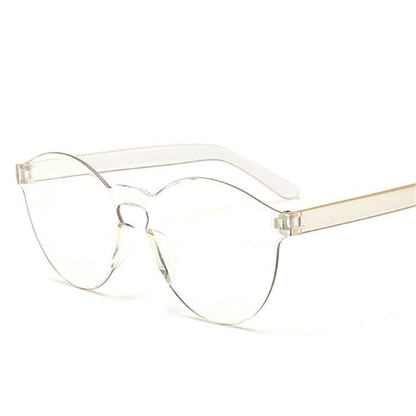 Women Fashion Luxury Candy colors Rimless Sun Glasses
