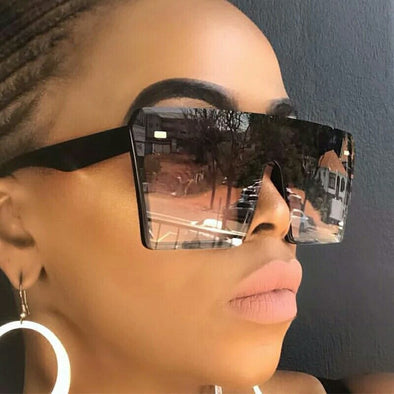 Free~Fashion Oversized Square Sunglasses