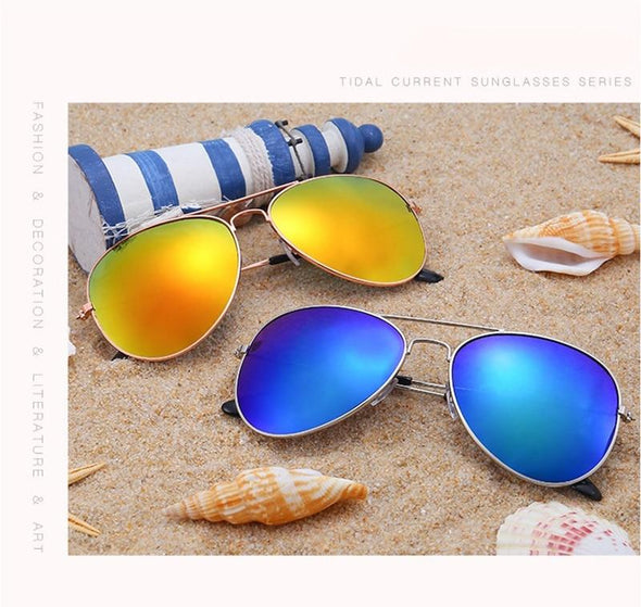 Cheap Cool Aviator Polarized Mirror  Sunglasses